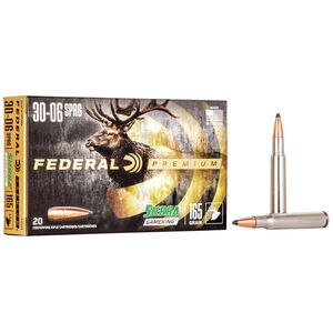 Federal Premium Sierra GameKing .30-06 Springfield Ammunition 20 Rounds 165 Grain Sierra GameKing Boat Tail Soft Point 2800fps