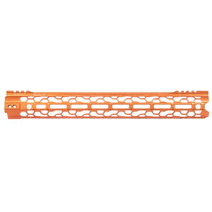 "ODIN Works AR-15 15.5"" M-LOK O2 Lite Free Float Forend Orange Finish"