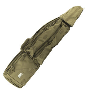 "NcSTAR Double Rifle Drag Bag Padded 45""x10""x4"" Shoulder Strap Nylon Tan"