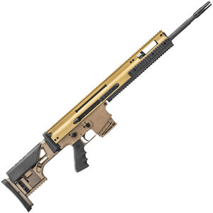 "FN SCAR 20S .308 Win Semi Auto Rifle 20"" Barrel 10 Rounds Ambidextrous Controls Monolithic Upper Receiver Adjustable Fixed Stock FDE Finish"