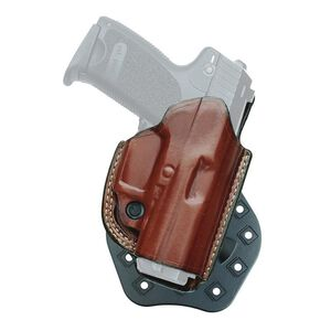 Aker Leather 268A FlatSider Paddle XR19 SIG P320c Belt Holster Right Hand Leather Plain Tan