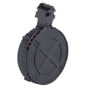 GSG Ruger 10/22 .22 LR Drum Magazine, 110 Rounds, Polymer, Black
