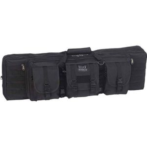 "Bulldog Double Tactical Rifle Case Polyester Canvas 43"" Black"
