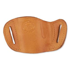 Bulldog Case Belt Slide Large Semi Auto Pistol Holster Ambidextrous Leather Tan MLT-L