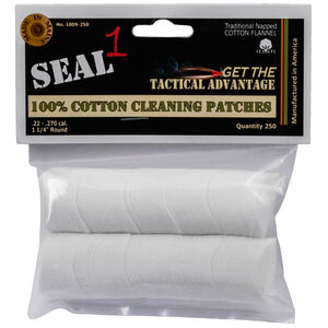 Seal 1 Cotton Cleaning Patches .22-.270 Caliber 250 Count