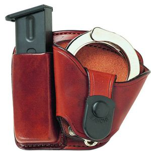 Bianchi Paddle Magazine/Handcuff Holster Combo Model 45Mag/Cuff Paddle Pouch Tan 19856