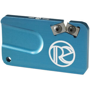 Redi-Edge Pocket Knife Sharpener Right Handed Duromite Blades Blue Anodized Aluminum Body