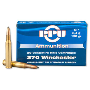 Prvi Partizan .270 Winchester Ammunition 20 Rounds SP 130 Grains PP2.6