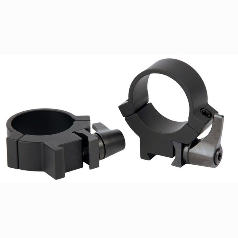 "Warne 7.3/22 QD Attach Rings Fits 3/8? or 11mm Dovetail Scope Rail 1"" Tube Medium Height Steel Matte Black Finish 721LM"
