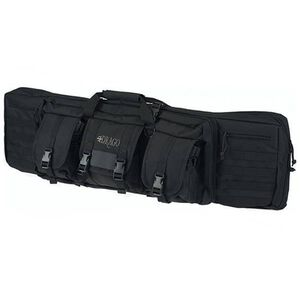 "Drago Gear 42"" Double Gun Case Padded Backpack Straps Large Storage Pouches 600D Polyester Black 12-323BL"