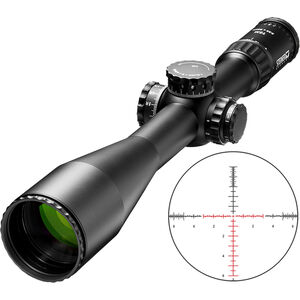 Steiner T5Xi 5-25x56 Rifle Scope SCR MOA Illuminated Reticle 34mm Tube 1cm  Adjustment Resettable Turrets Side Focus Parallax Black