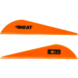 Bohning Blazer Heat Hunting Vanes 6 Grains Synthetic Neon Orange 100 Pack