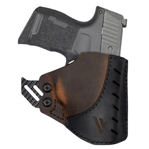 VersaCarry Adjustable Pocket Holster Fits Micro Pistols With Lasers Ambidextrous Leather Distressed Brown PKL26
