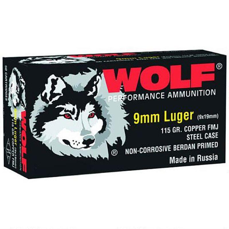 Wolf Performance 9mm Luger Ammunition 50 Rounds FMJ 115 Grain