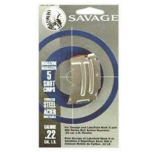 Savage MK II 5 Round Magazine .22LR/.17HM2 Stainless