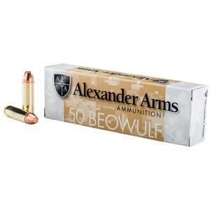 Alexander Arms .50 Beowulf Ammunition 20 Rounds FMJ FP 335 Grains A-B335FPBOX