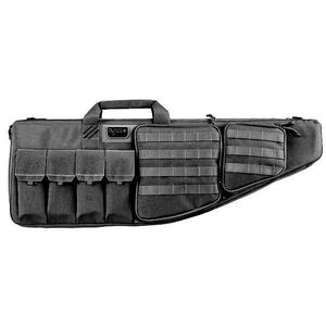 "G-Outdoors G.P.S. Tactical Rifle Case 35"" With External Handgun Case 1000 Denier Heavy Duty Material DuPoint Teflon Coated Black Finish"