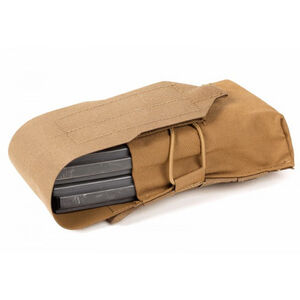 Blueforce Gear Double M4 Mag Pouch Classic style with flap Coyote Brown HW-M-2M4-1-CB
