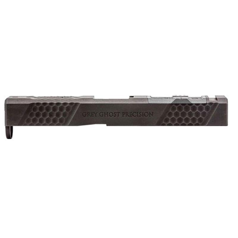 Grey Ghost Precision GGP-19 V2 Stripped Slide fits GLOCK 19 Gen 5 Models Optic Cut Machined 17-4 Billet Stainless Steel Nitride Coated Black