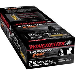 Winchester Varmint HV .22 WMR Ammunition 50 Rounds 30 Grain JHP 2250fps