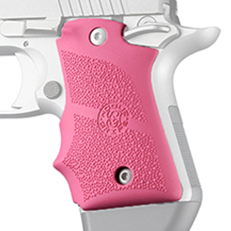 Hogue Kimber Micro 9 Rubber Grip with Finger Grooves Pink