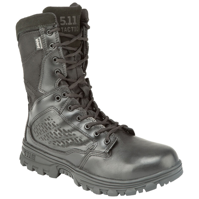 "5.11 Tactical EVO 8"" Waterproof Boot with Sidezip Size 11.5 Regular Black 12312"