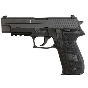 "SIG Sauer P226 MK25 Full Size 9mm Luger Semi Auto Pistol 4.4"" Barrel 15 Rounds Combat Sights M1913 Rail Alloy Frame Matte Black Finish"