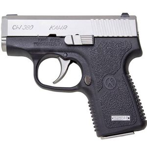 "Kahr CW380 Semi Auto Pistol .380 ACP 2.58"" Barrel 6 Rounds Black Polymer Frame Matte Stainless Steel Slide Finish CW3833"