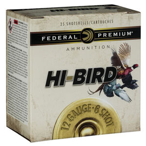 "Federal Premium Hi-Bird 12 Gauge Ammunition 2-3/4"" #8 Lead Shot 1-1/8 Ounce 1275 fps"