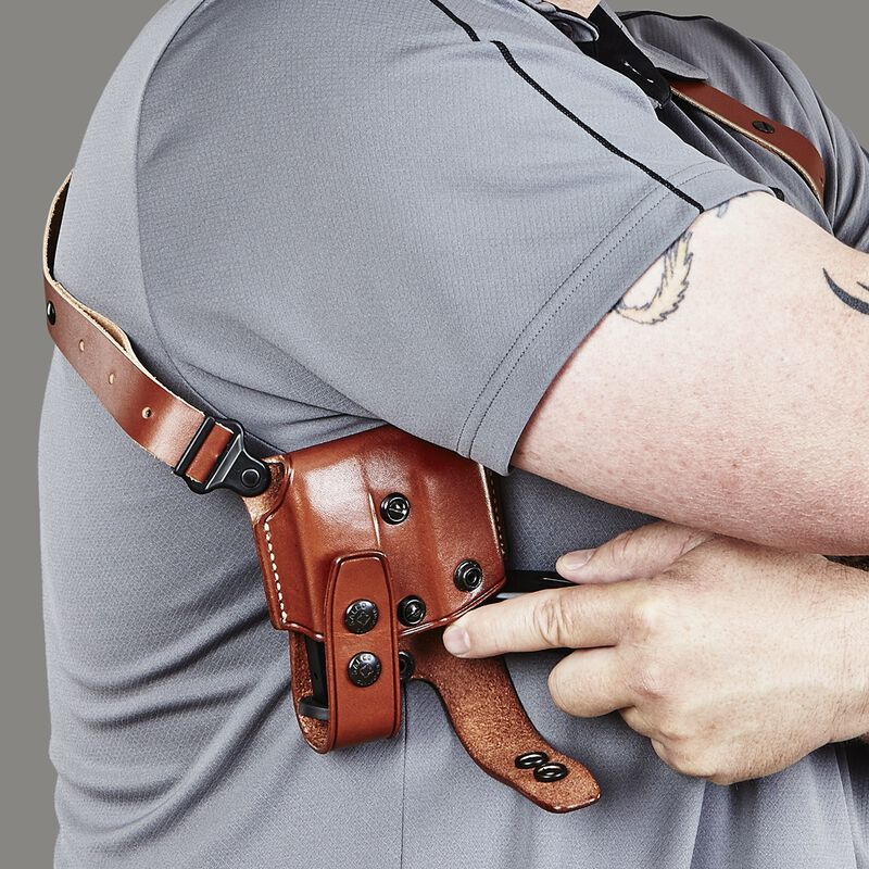 """Galco Miami Classic Shoulder Holster Springfield XD Right Hand 3""""-5"""" Barrel Leather Tan Finish MC446"""