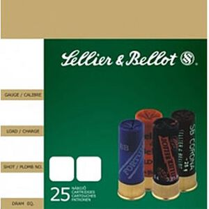 "Sellier & Bellot 12 Gauge Ammunition 10 Rounds 2.75"" #00 Buck 12 Pellets Lead"