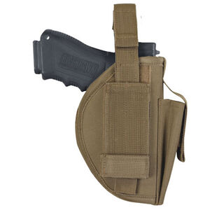 Fox Outdoor Belt Holster Large Autos Ambidextrous Nylon Coyote Tan 58-168
