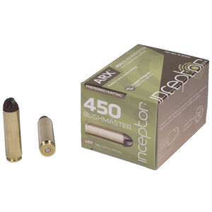Inceptor Preferred Hunting 450 Bushmaster Ammunition 20 Rounds 158 Grain Cu/P ARX 2620 fps