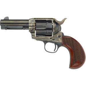 "Taylor's & Co Cattleman .357 Mag Single Action Revolver 3.5"" Barrel 6 Rounds Birdshead Checkered Walnut Grips Case Hardened/Blued Finish"