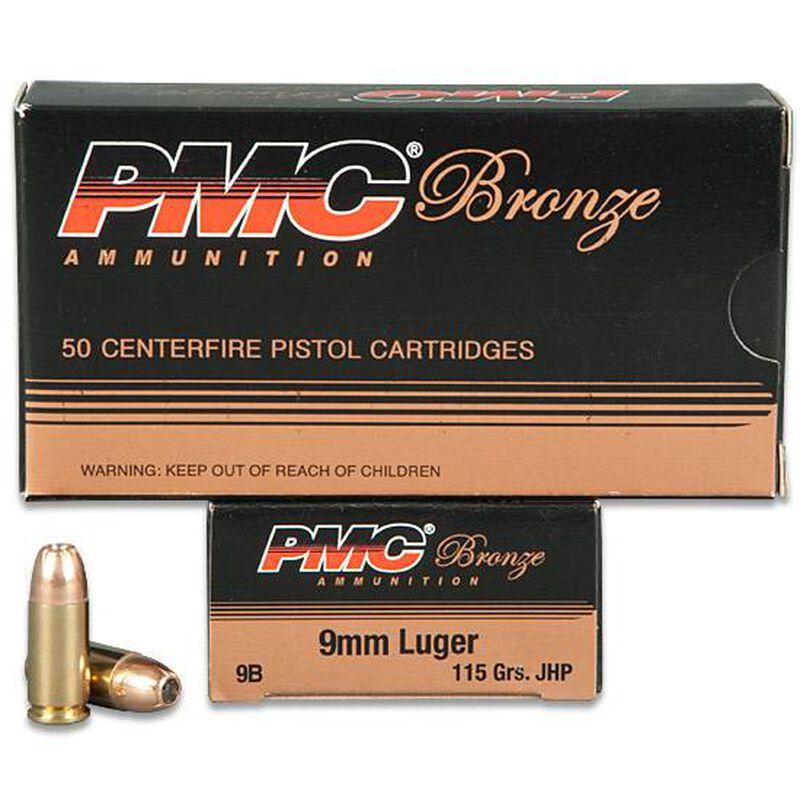 PMC Bronze 9mm Luger Ammunition 50 Rounds JHP 115 Grains 9B