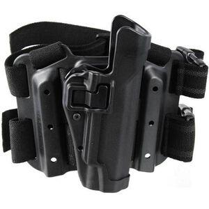 BLACKHAWK! SERPA Level 2 Tactical Drop Leg Holster GLOCK 10mm/.45 S&W M&P Pro Polymer Black 430513BK-R