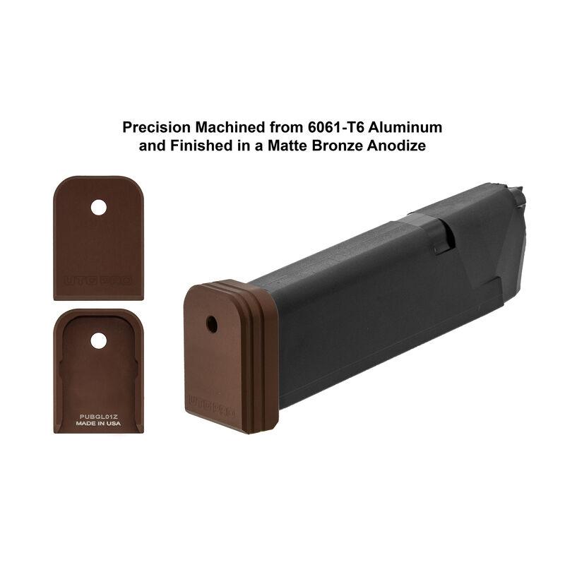 UTG PRO +0 Base Pad, Glock Small Frame, Matte Bronze Aluminum