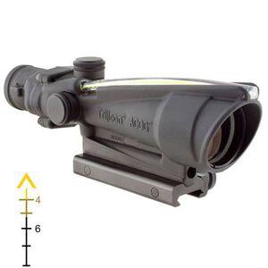 Trijicon ACOG TA11E-A Riflescope 3.5x35 Illuminated Amber Chevron .308 Flattop Reticle with BAC 1/3 MOA Aluminum Matte Black with TA51 Mount TA11E-A