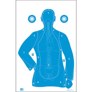 """Action Target B-21E Silhouette Paper Target 23""""x35"""" 100 Count"""