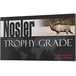 Ammo .280 Ackley Improved Nosler Trophy Grade 140 Grain AccuBond Bullet 3150 fps 20 Rounds 60043