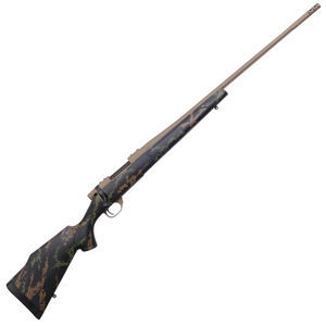 """Weatherby Vanguard High Country .257 Wby Mag Bolt Action Rifle 26"""" Barrel 3 Rounds Polymer Stock Black/Green/Tan Cerakote FDE Finish"""