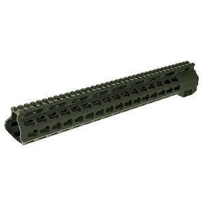 """Aimsports AR-15/M4 15"""" Keymod Gen II Free Float Hand Guard Aluminum Cerakote Finish Olive Drab Green"""