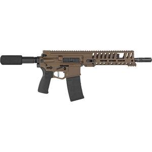 "POF USA P415 Edge .300 AAC Blackout AR-15 Semi Automatic Pistol 10.5"" Barrel 30 Rounds 9"" M-LOK MRR Free Float Hand Guard AR Piston Buffer Tube Burnt Bronze Finish"