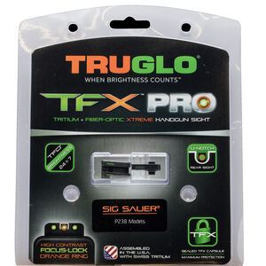 TRUGLO TFX PRO Sight Set For SIG Sauer P238 Orange Front Sight Ring Green Sights Black Bases