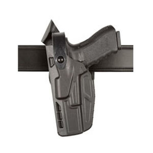 Safariland Model 7360 7TS ALS/SLS Mid-Ride Duty Belt Holster Left Hand Fits SIG Full Size P250/P320 SafariSeven Black
