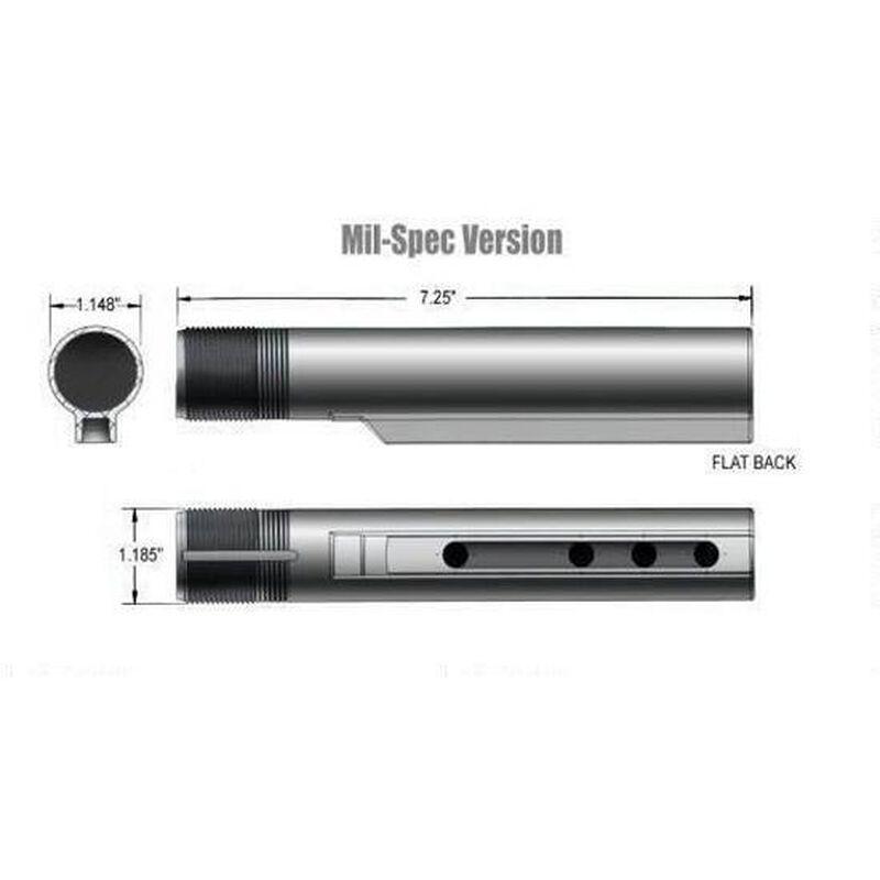 DoubleStar AR-15 Carbine Buffer Tube Mil-Spec Six Position Aluminum Black AR355M
