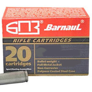 Barnaul Rifle Cartridges 6.5 Grendel Ammunition 500 Rounds 100 Grain Full Metal Jacket Polymer Coated Steel Cased Cartridges