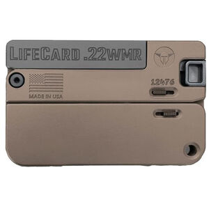 Trailblazer LifeCard .22WMR Folding Single Shot Pistol 1 Round with 3 Round Ammo Storage Steel Barrel Bolt and Trigger Aluminum Frame Barrett Brown Finish