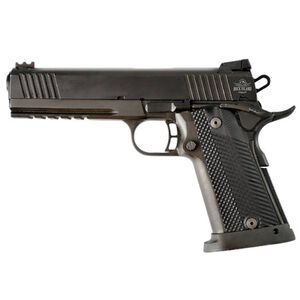 "Rock Island Armory Tac Series Ultra Full Size 1911 Semi Auto Pistol .45 ACP 5"" Barrel 14 Rounds Fiber Front/Adjustable Rear Sights G10 Grips Parkerized Matte Black"