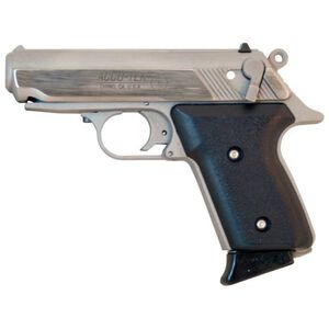"Accu-Tek AT-380 II Semi Auto Handgun .380 ACP 2.8"" Barrel 6 Rounds Stainless Steel Black Polymer Grips Stainless Finish AT38101"
